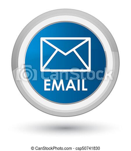 Email prime blue round button - csp50741830