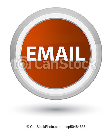 Email prime brown round button - csp50484636