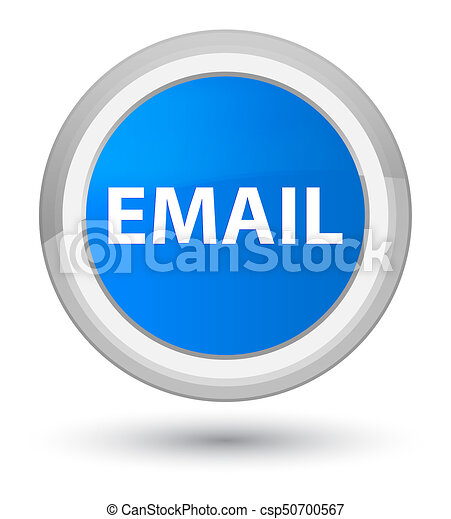 Email prime cyan blue round button - csp50700567