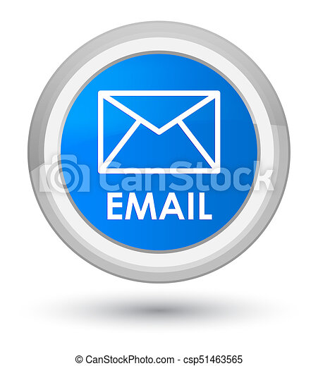 Email prime cyan blue round button - csp51463565