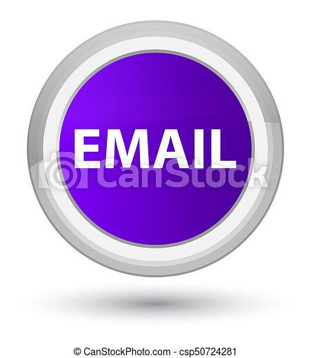 Email prime purple round button - csp50724281