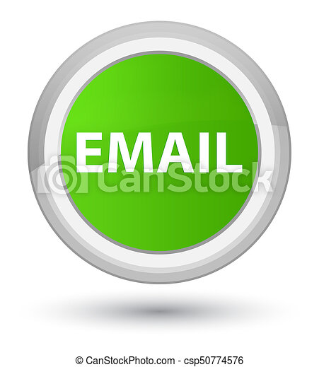 Email prime soft green round button - csp50774576