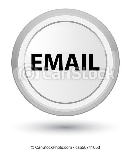 Email prime white round button - csp50741653