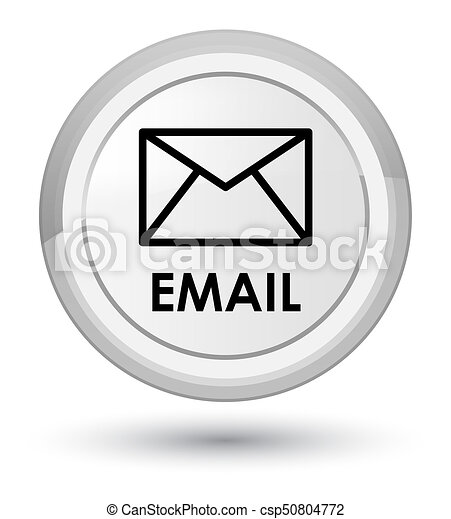 Email prime white round button - csp50804772