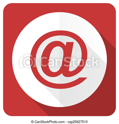 email red flat icon - csp25627510