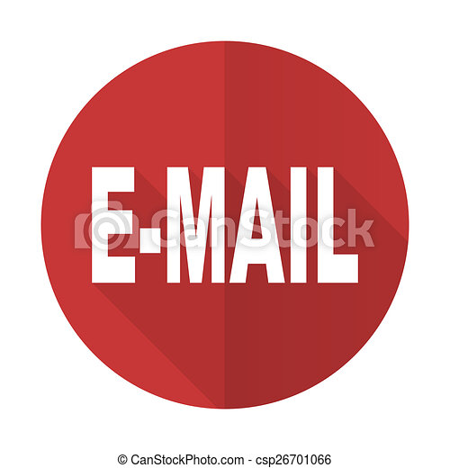 email red flat icon - csp26701066