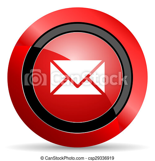 email red glossy web icon - csp29336919