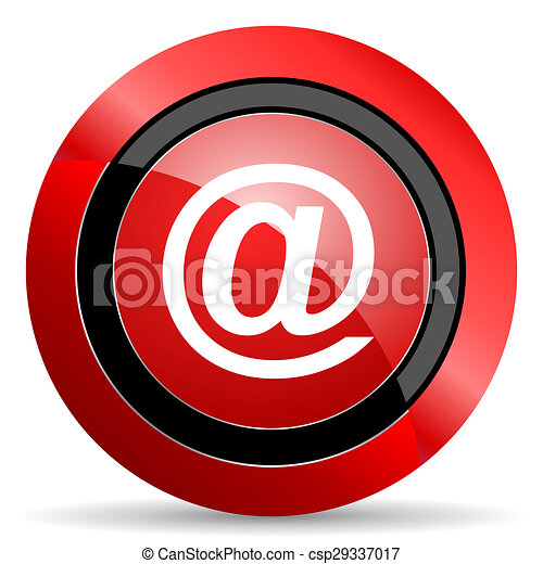email red glossy web icon - csp29337017