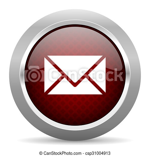 email red glossy web icon - csp31004913