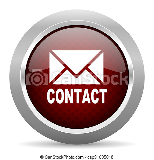 email red glossy web icon - csp31005018