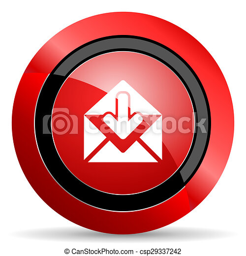 email red glossy web icon - csp29337242