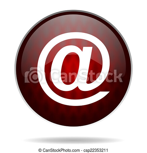 email red glossy web icon on white background - csp22353211