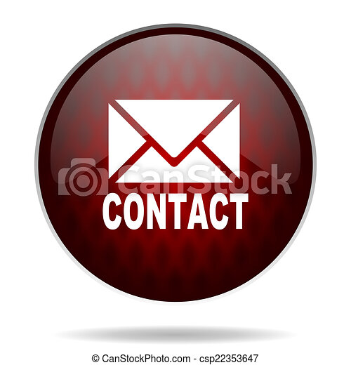 email red glossy web icon on white background - csp22353647