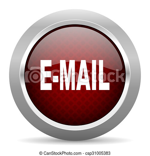 email red glossy web icon - csp31005383