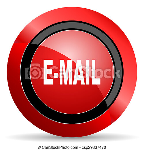 email red glossy web icon - csp29337470