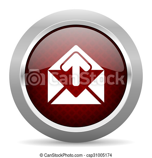 email red glossy web icon - csp31005174