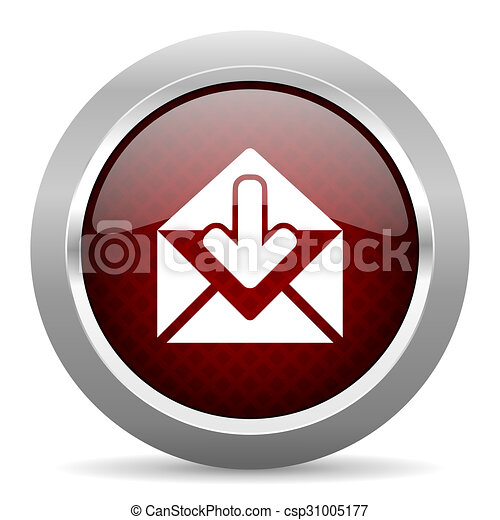 email red glossy web icon - csp31005177