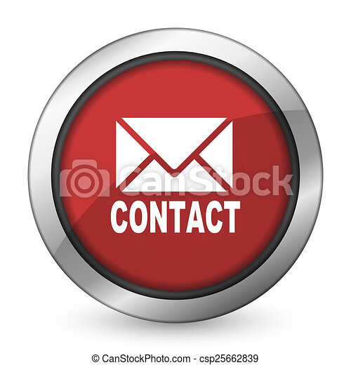 email red icon contact sign - csp25662839