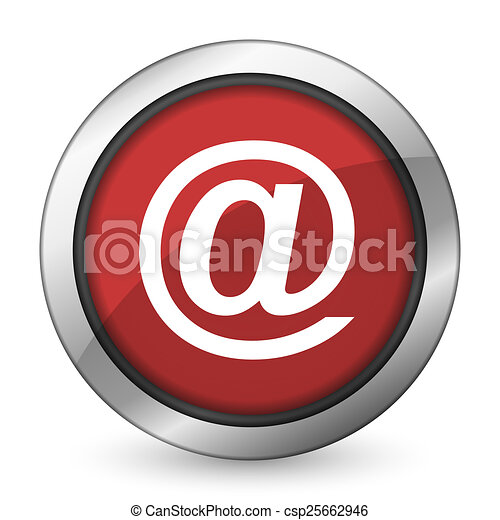 email red icon - csp25662946
