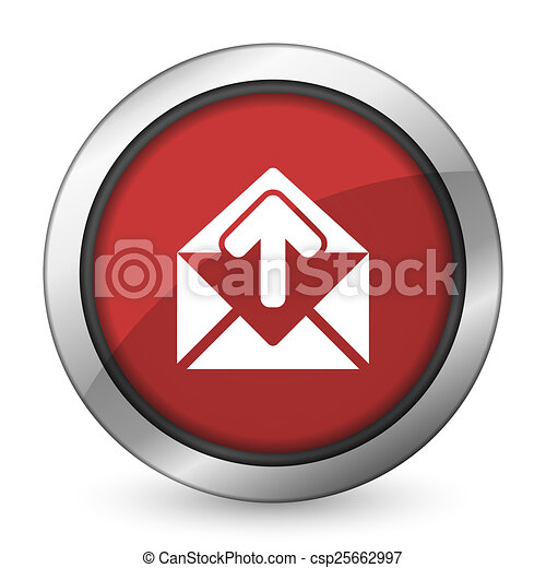 email red icon post message sign - csp25662997