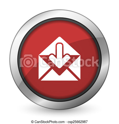 email red icon post message sign - csp25662987