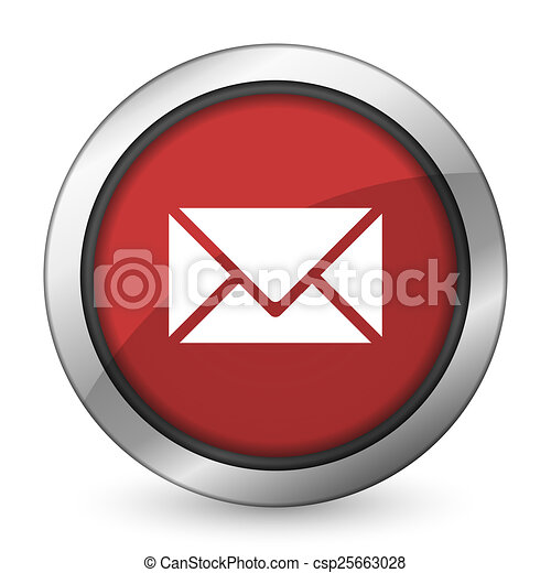 email red icon post sign - csp25663028