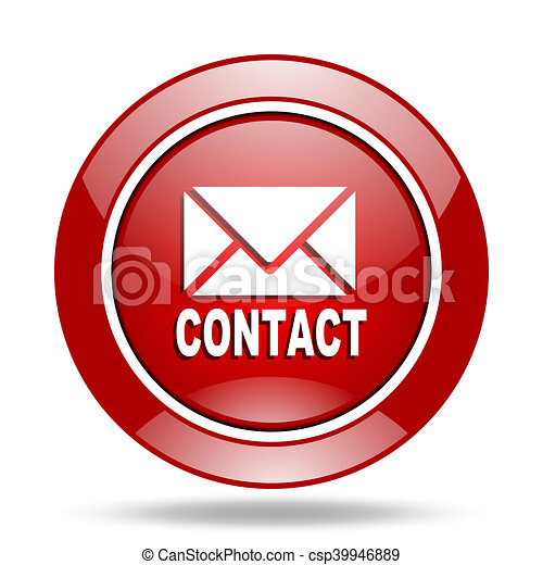 email red web glossy round icon - csp39946889