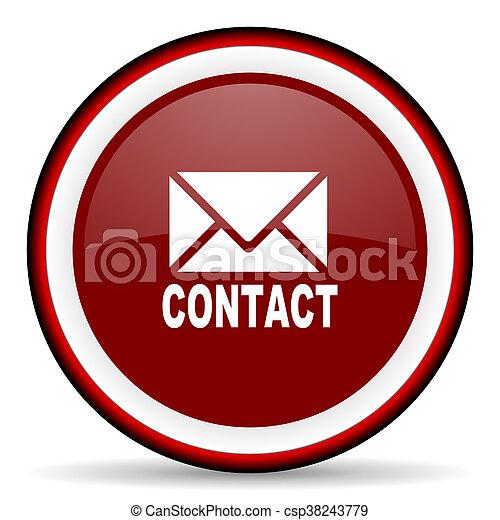email round glossy icon, modern design web element - csp38243779
