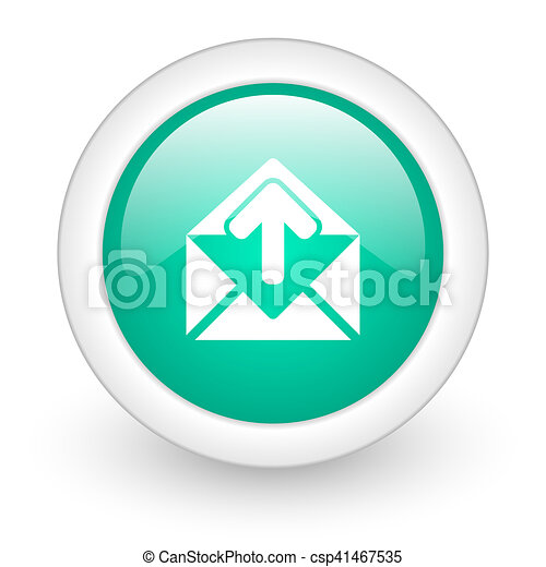 email round glossy web icon on white background - csp41467535