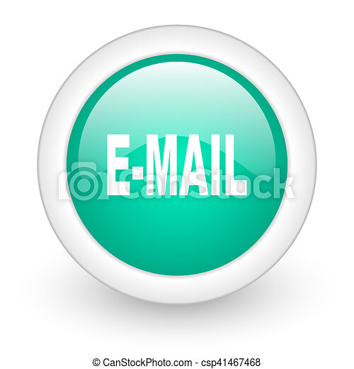 email round glossy web icon on white background - csp41467468