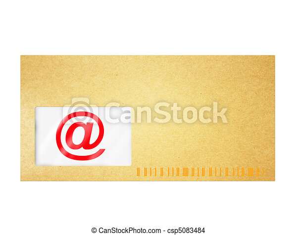 Email sign isolated on white - csp5083484