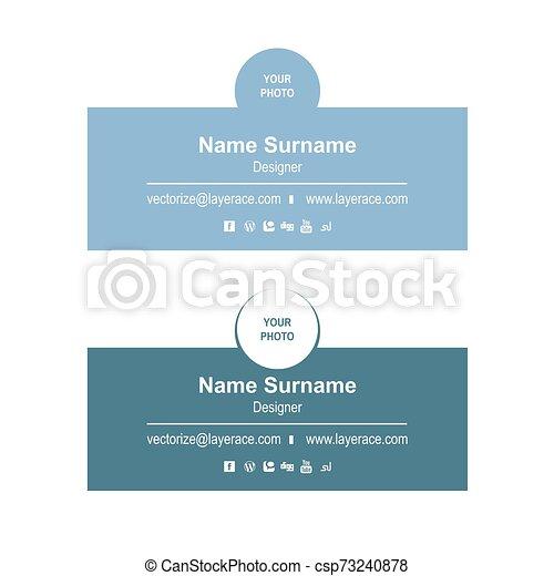 Email Signature Templates - csp73240878