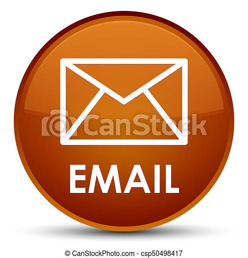 Email special brown round button - csp50498417