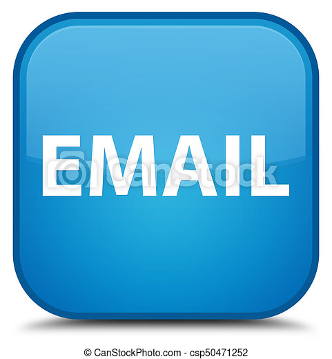 Email special cyan blue square button - csp50471252
