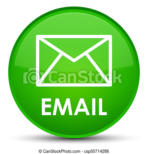 Email special green round button - csp50714286