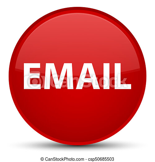 Email special red round button - csp50685503