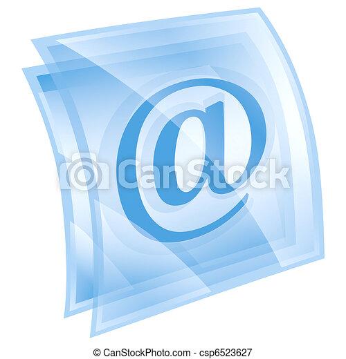 email symbol blue, isolated on white background. - csp6523627