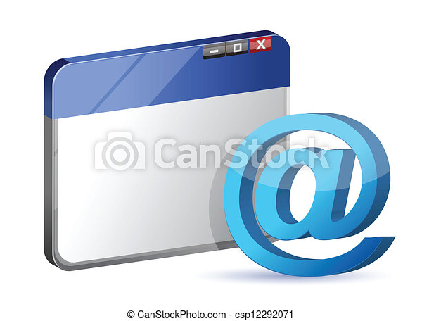 email symbol browser - csp12292071
