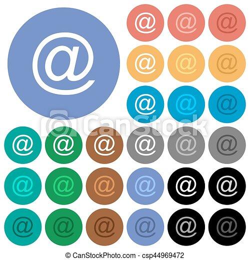 Email symbol round flat multi colored icons - csp44969472