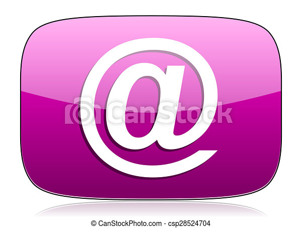 email violet icon - csp28524704