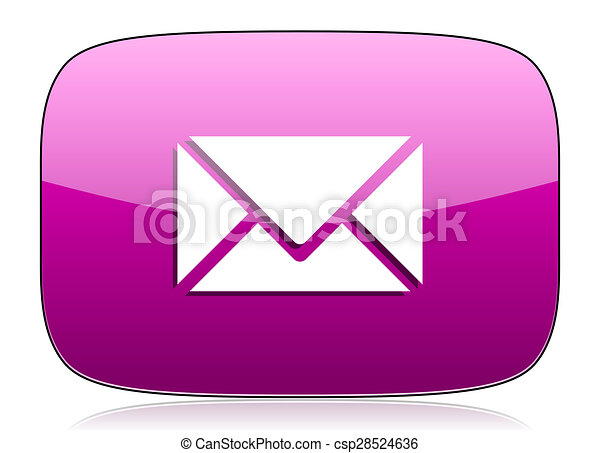 email violet icon post sign - csp28524636