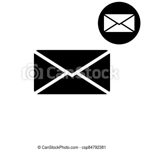Email -  white vector icon - csp84792381