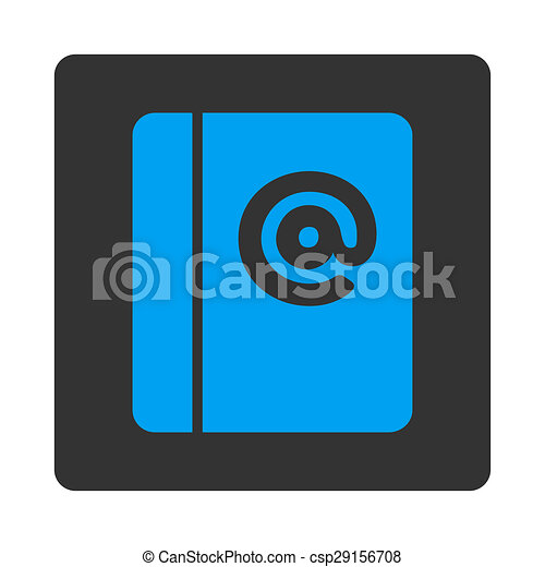 emails icon this flat rounded square button uses white and gray