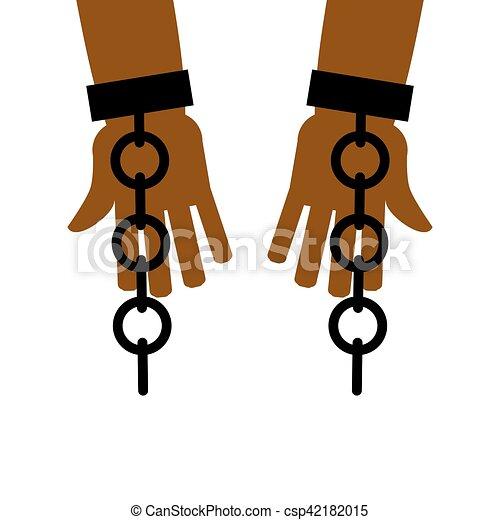 emancipation from slavery break free chains on slave vector rh canstockphoto com slavery clipart black slavery clipart