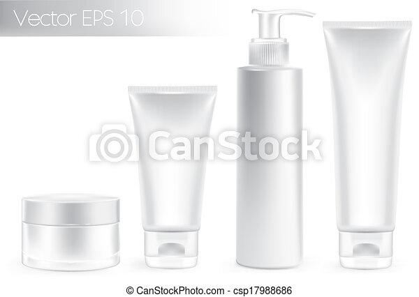 embalagem, branca, recipientes, color. - csp17988686