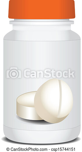 embalagem, medicinas - csp15744151