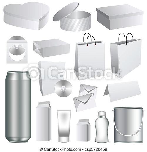 embalagem, modelos, em branco - csp5728459