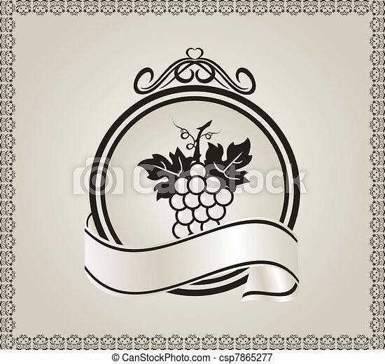 Etiqueta de retro para empacar vino - csp7865277