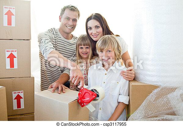 emballage, boîtes, famille, vif - csp3117955