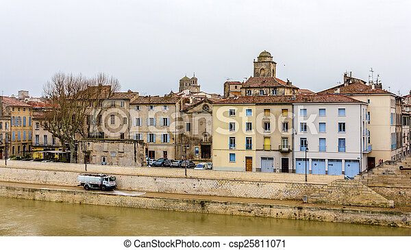 Embankment of Arles - France, Provence-Alpes-Cote d'Azur - csp25811071